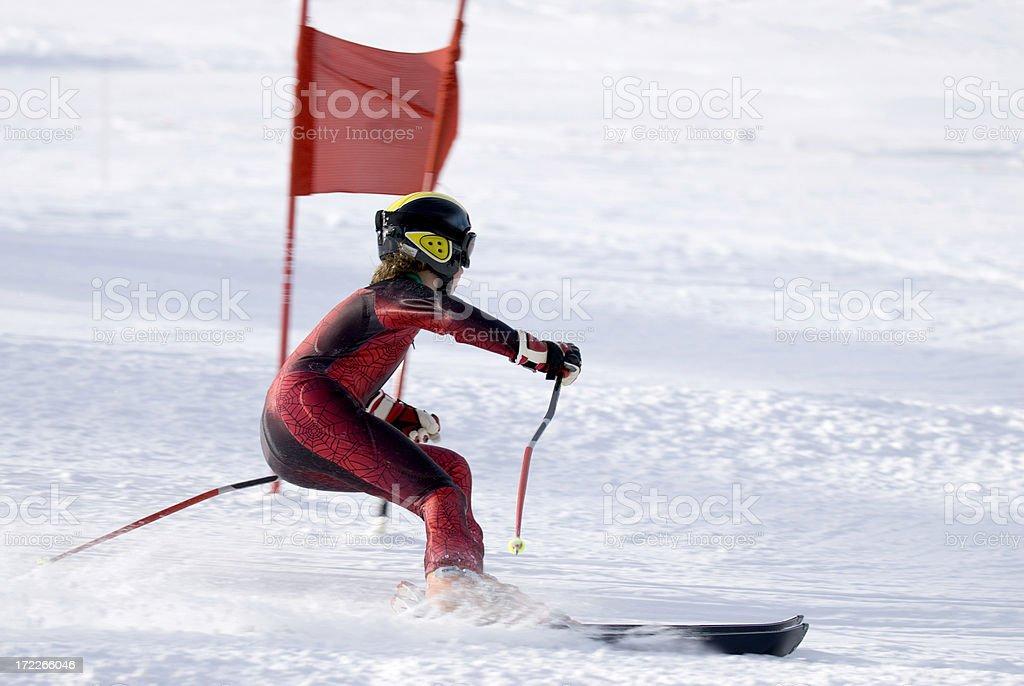Slalom Skiier royalty-free stock photo
