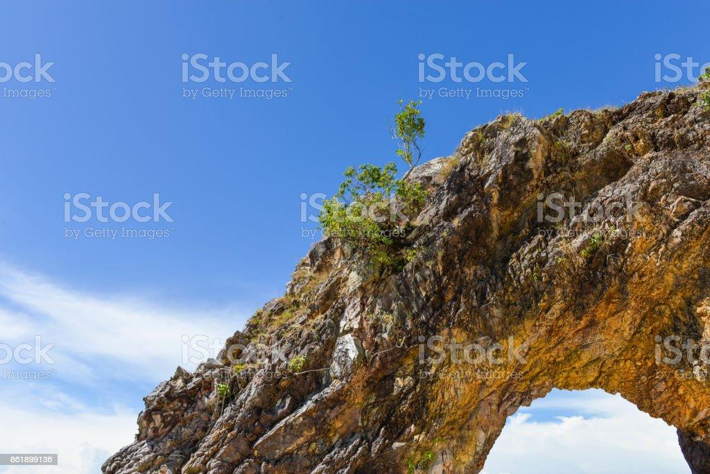 sland Khai with blue sky at Lipe Thailand stock photo