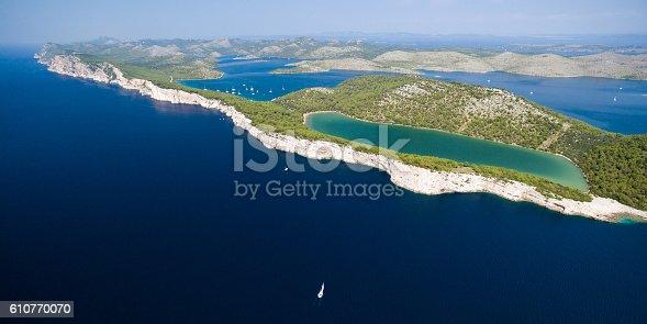 istock Slano lake in nature park Telascica, Croatia 610770070