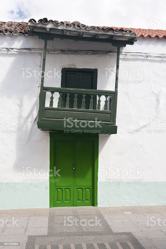Slanted Building With Balcony royalty-free stock photo
