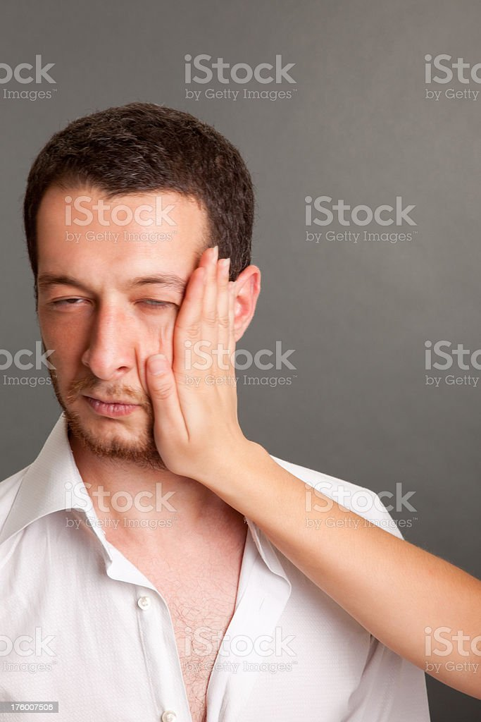 Slapping series stock photo