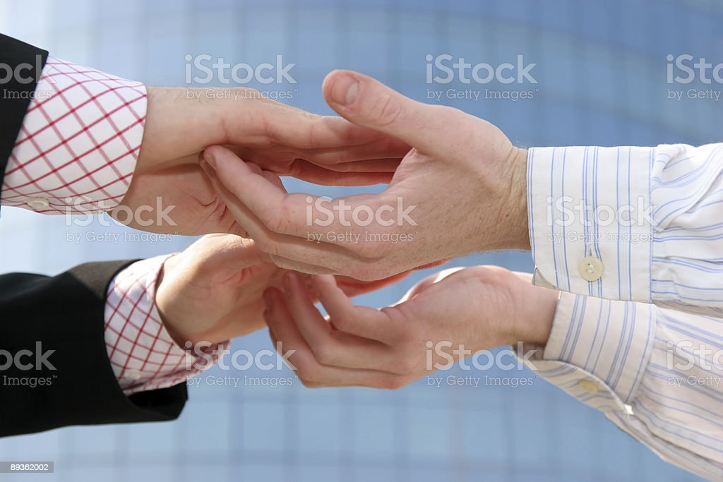 Slaps in business royalty-free stock photo