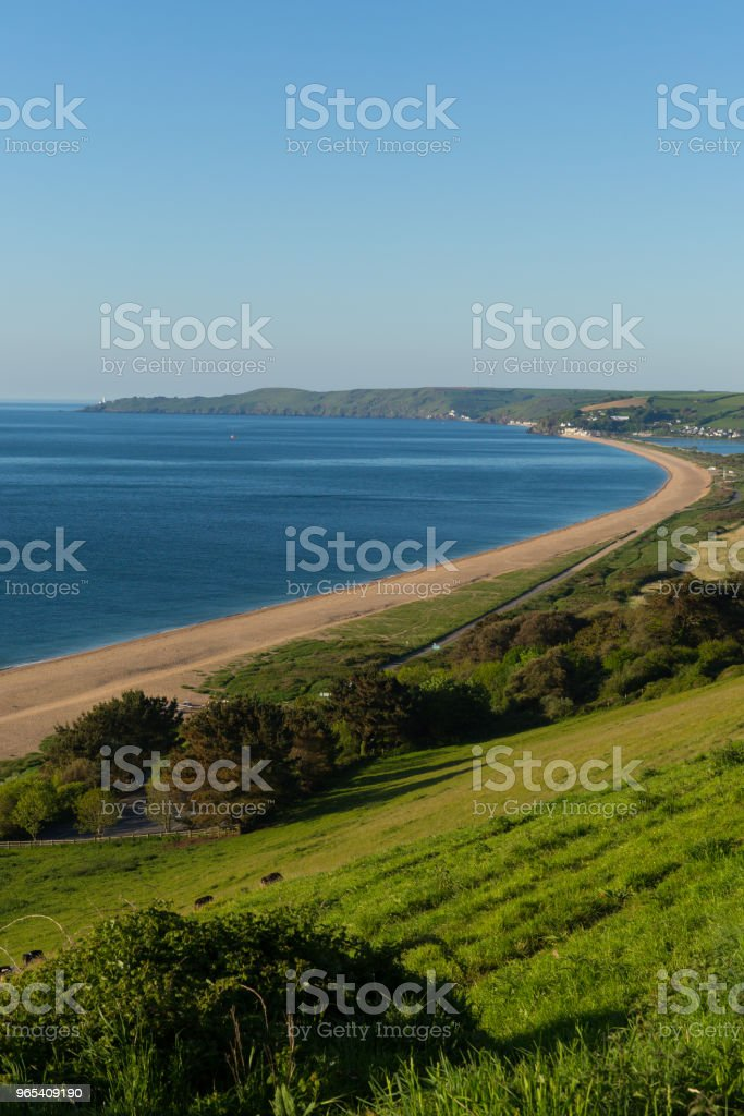 Slapton Sands beach et la côte de Devon en Angleterre près de Dartmouth et Blackpool Sands - Photo de Angleterre libre de droits