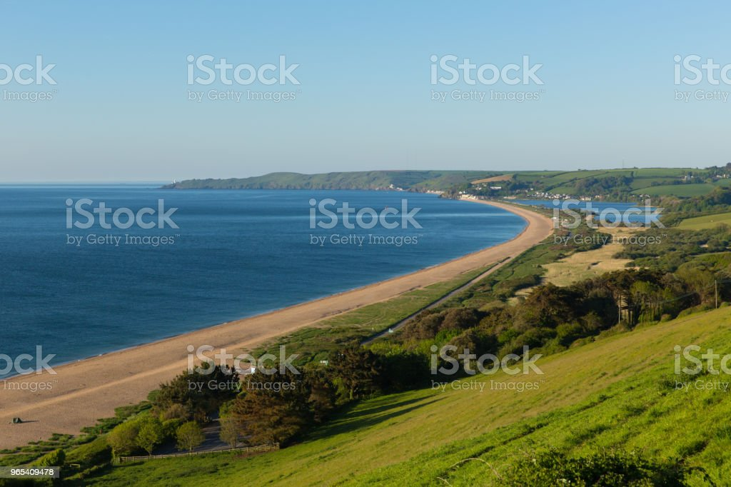 Slapton Sands beach and coast Devon England UK near Dartmouth and Blackpool Sands royalty-free stock photo