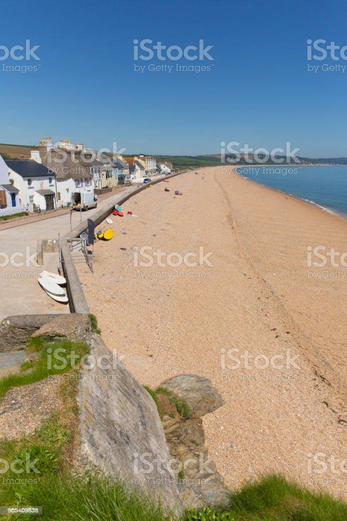 Slapton Sands beach Devon England UK, from Torcross in direction of Dartmouth zbiór zdjęć royalty-free