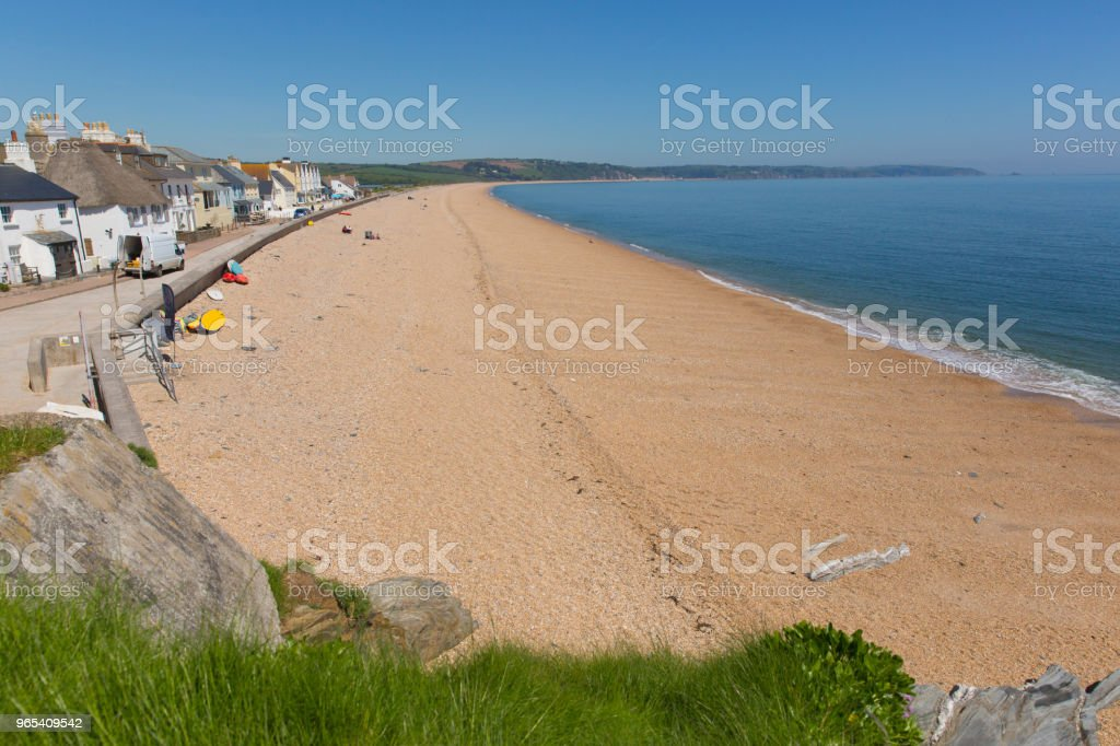 Slapton Sands beach Devon from Torcross in direction of Dartmouth royalty-free stock photo
