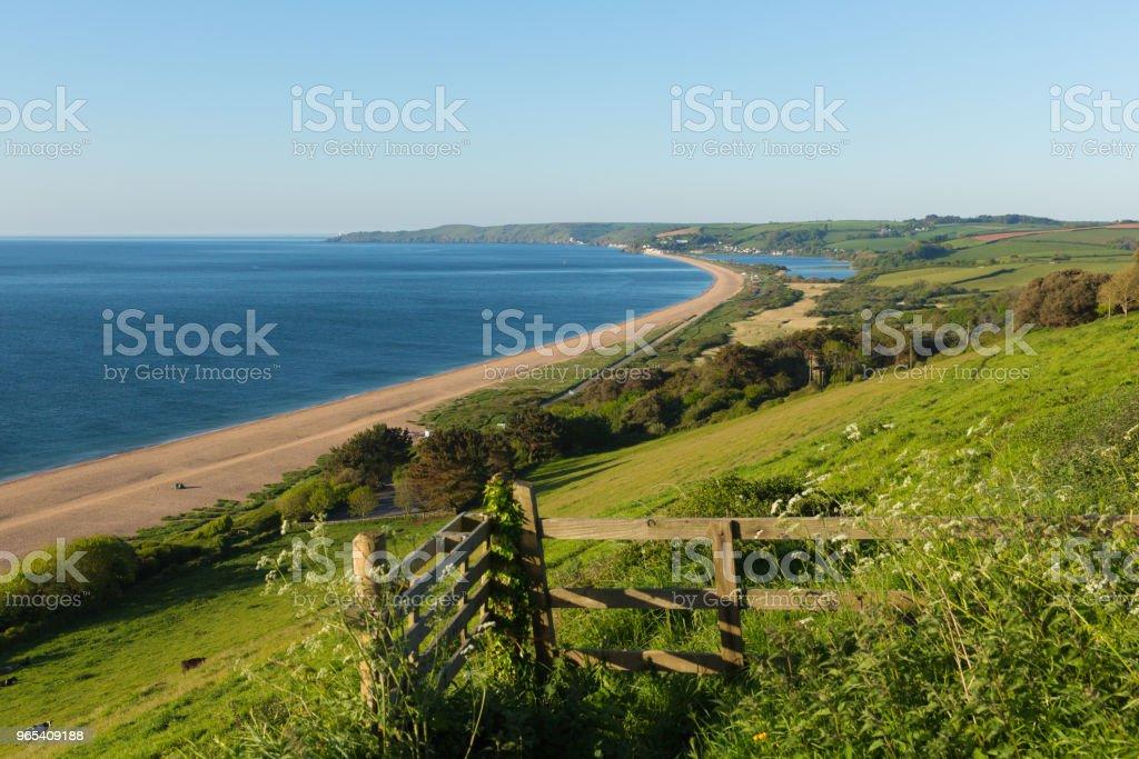 Slapton Sands Devon England UK coast and beach near Dartmouth and Blackpool Sands royalty-free stock photo
