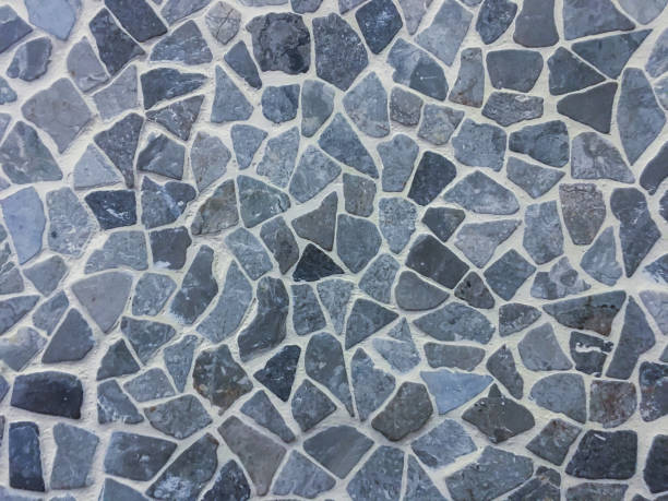 Slate flagstones textured stock photo