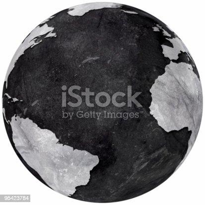 171057063istockphoto Slate globe showing Atlantic rim 95423784