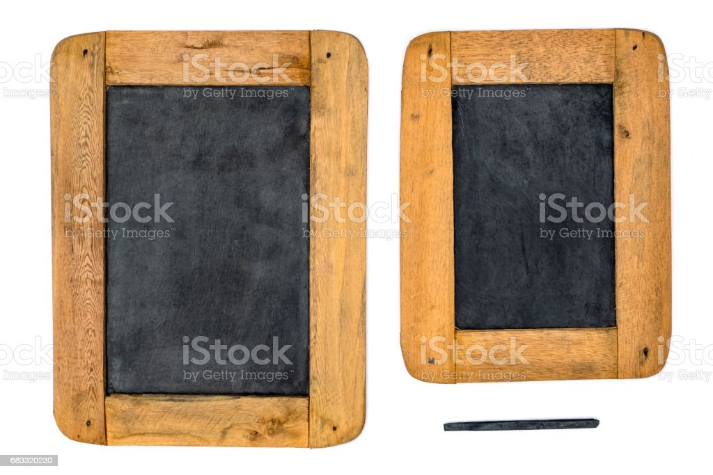Slate in Wood Frame royalty-free stock photo