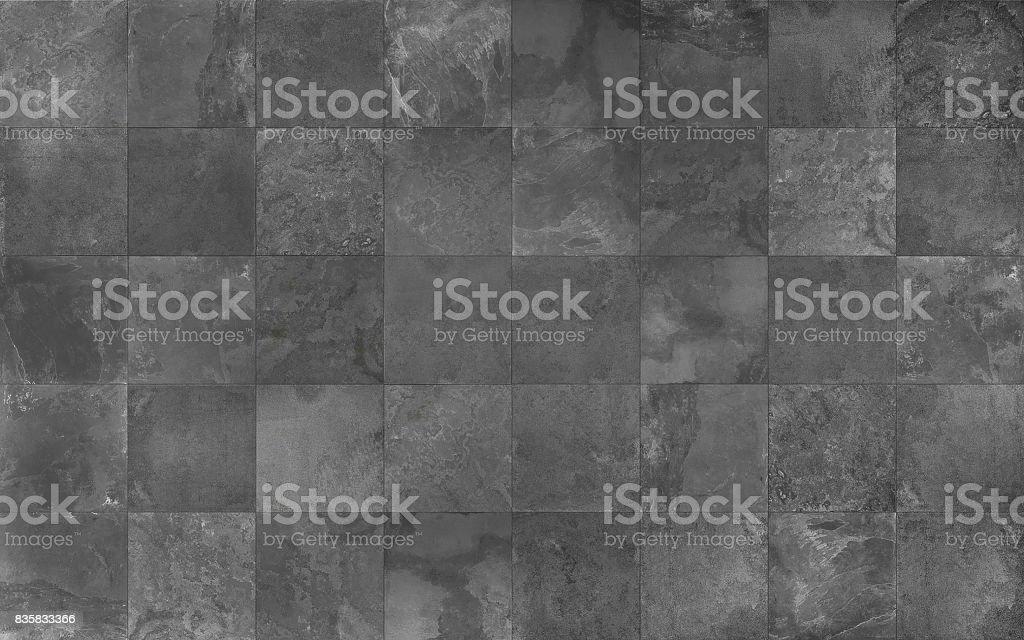 Slate mosaic tile seamless texture stock photo