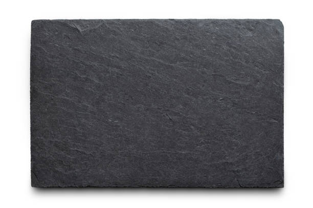 Slate rock with clipping path stock photo
