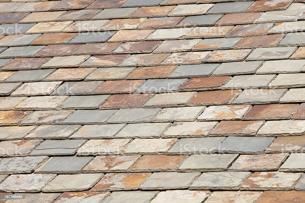 Slate roof royalty-free stock photo