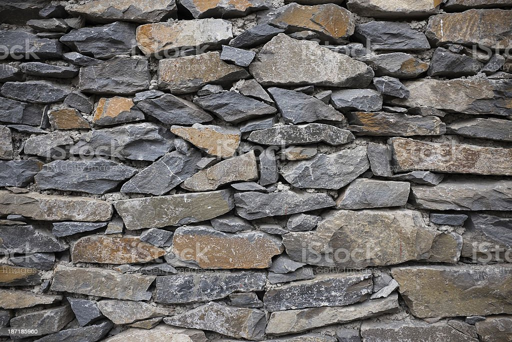 Slate Stone wall texture royalty-free stock photo