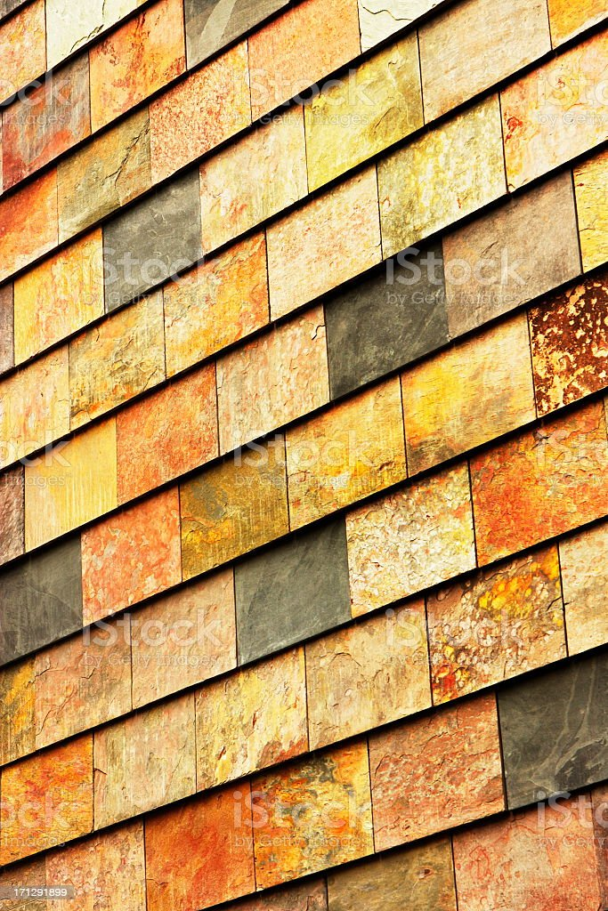 Slate Tile Building Facade Decor royalty-free stock photo