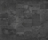Slate tile ceramic, seamless texture dark gray map for 3d graphics