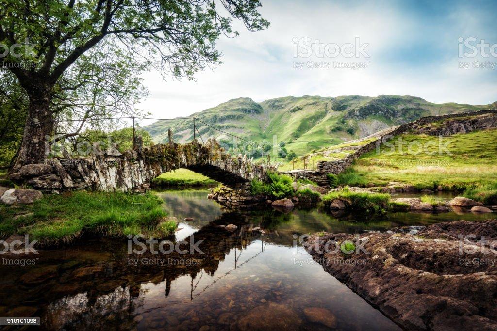 Slaters Bridge Lake District United Kingdom stock photo