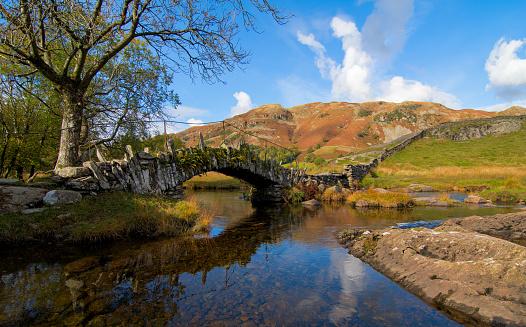 Slaters Bridge Little Langdale Lake District Stock Photo - Download Image Now