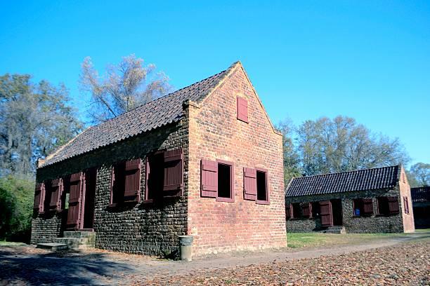 Slave Quarters on a South Carolina Plantation stock photo