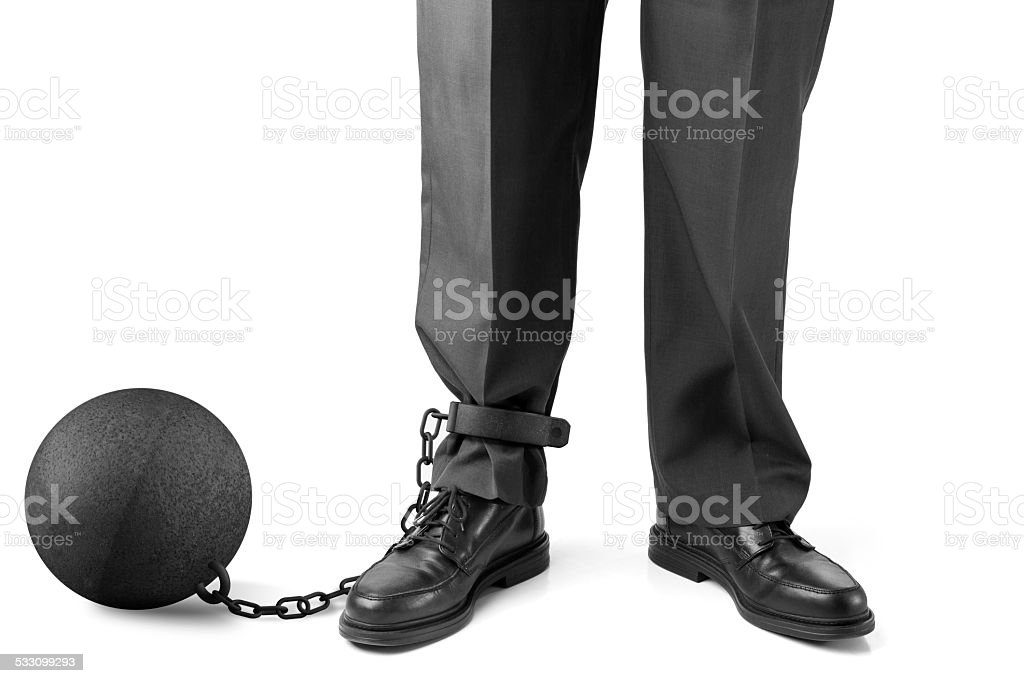 Slave to your job stock photo