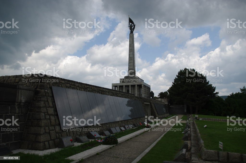Slavin - Memorial Monument and Military Cemetery stock photo
