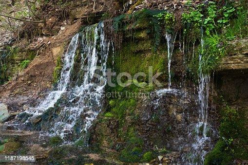 Slavonic Springs in Izborsk, Pskov region, Russia. Orthodox shrine