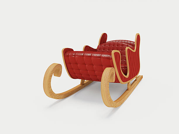 Sled Santa Claus Sled Santa Claus on the white background sleigh stock pictures, royalty-free photos & images