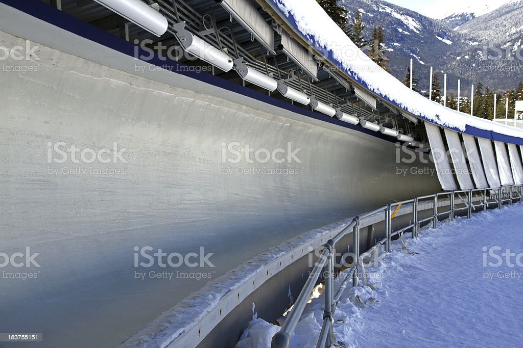 Sled Track stock photo