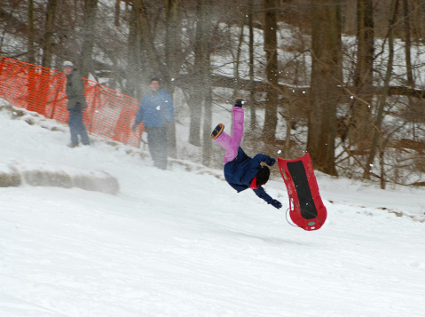 sledding wipe out