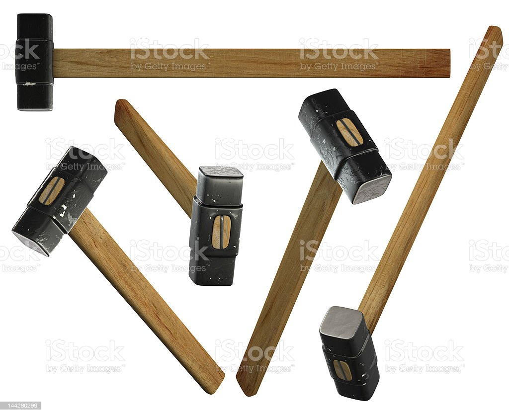 Sledge hammers royalty-free stock photo
