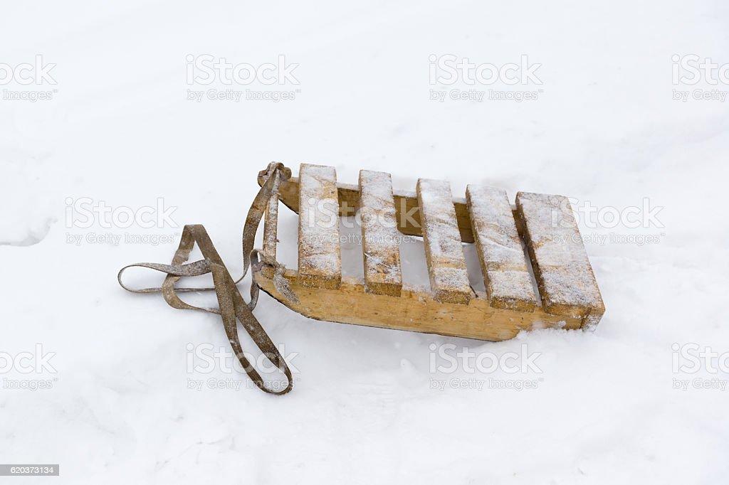 sleds are made of planks zbiór zdjęć royalty-free