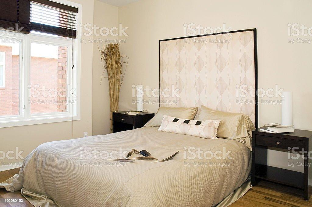 Sleek, Modern Bedroom Suite royalty-free stock photo