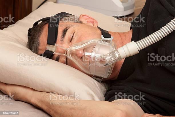 Sleep Apnea And Cpap Stock Photo - Download Image Now