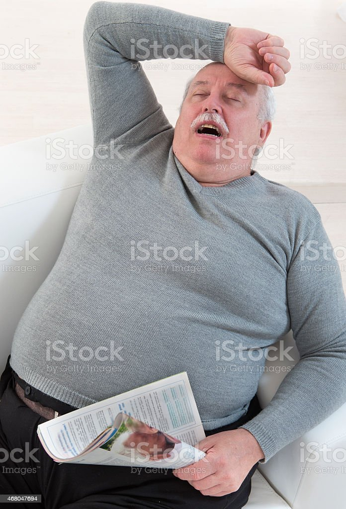 sleep senior stock photo
