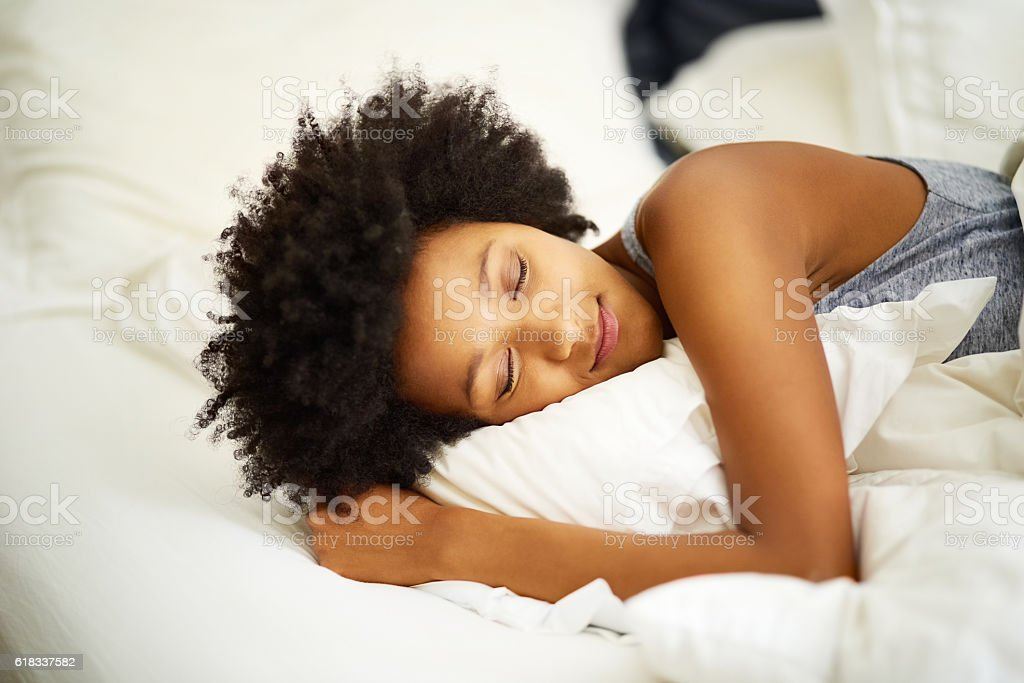 Sleep well. It's good for your health stock photo
