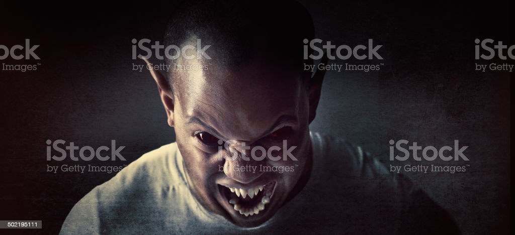 Sleep with one eye open stock photo