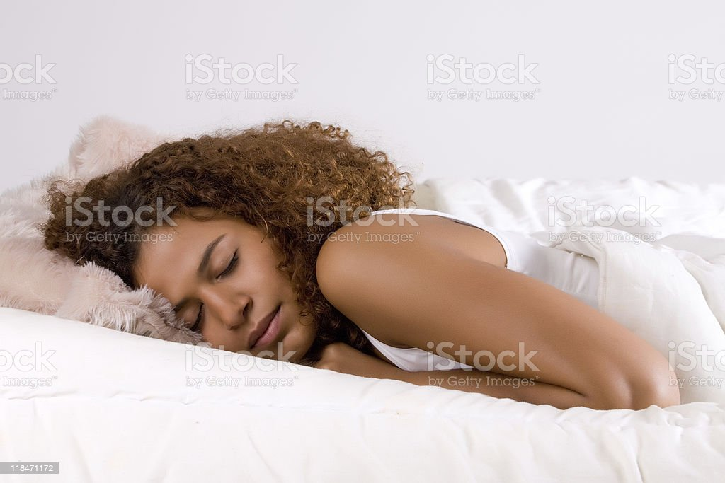 sleeping african princess stock photo