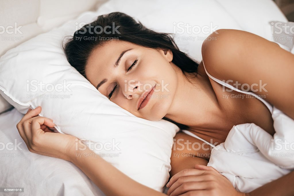 Sleeping at home. stock photo