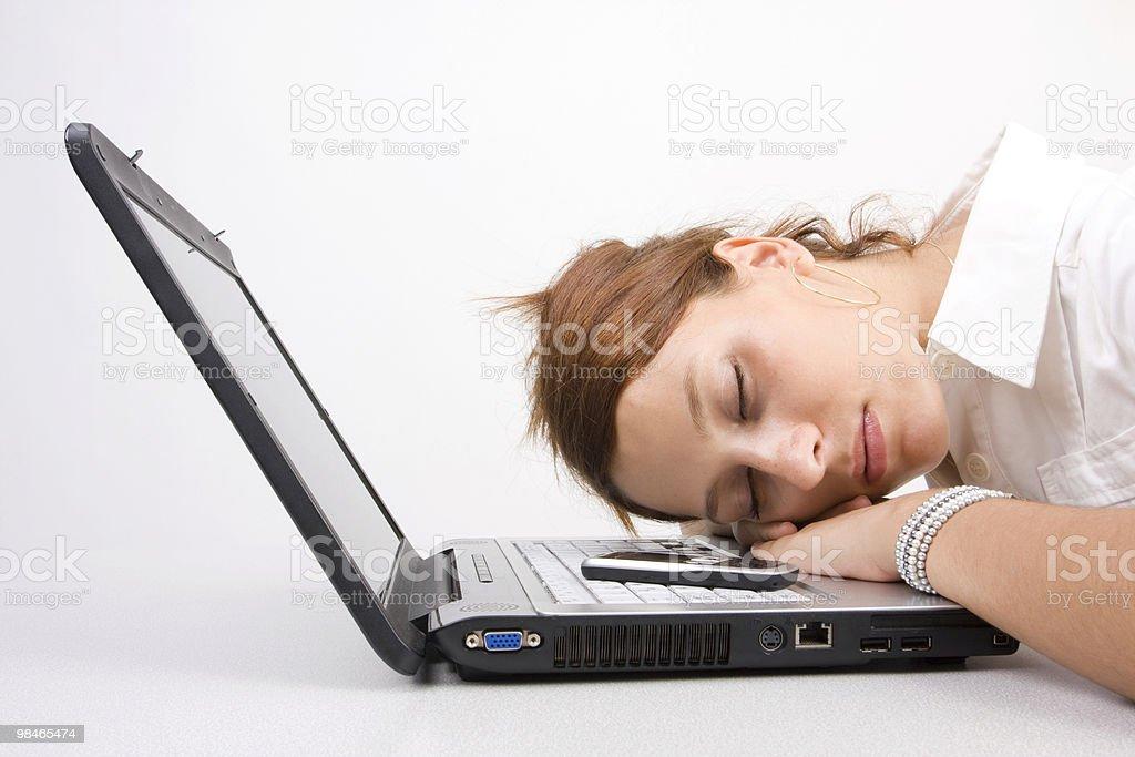 Sleeping at work royalty-free stock photo