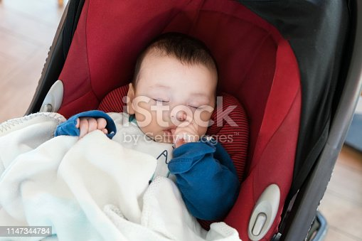 Sleeping baby boy portrait