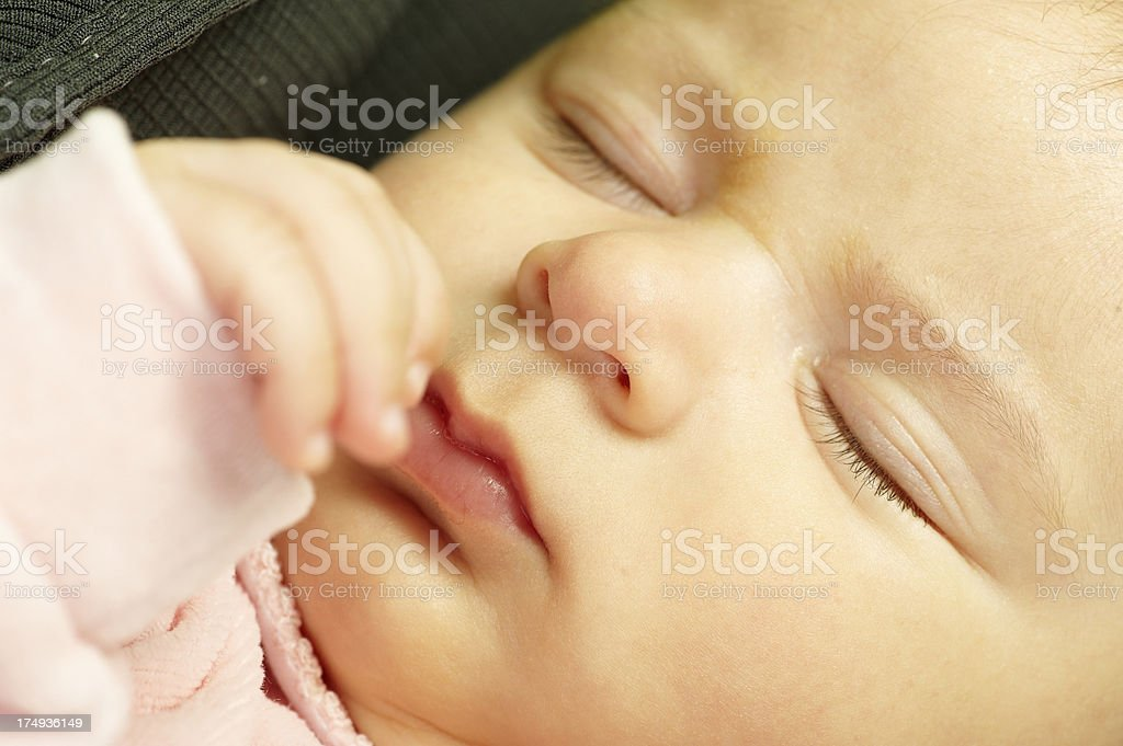 Sleeping Baby Girl royalty-free stock photo