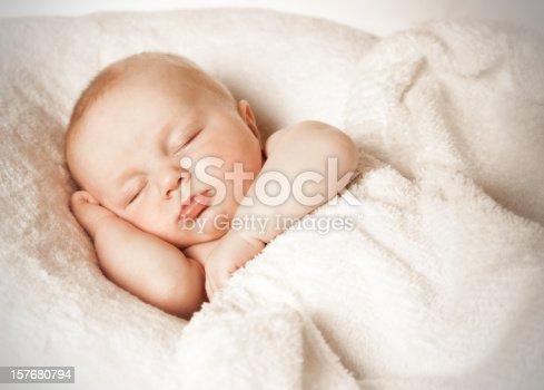 istock Sleeping baby 157680794