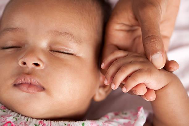 Sleeping baby. stock photo