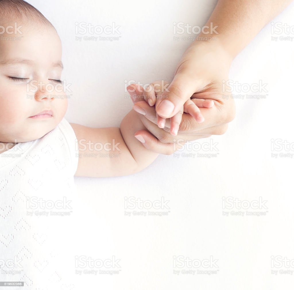 Sleeping Baby stock photo