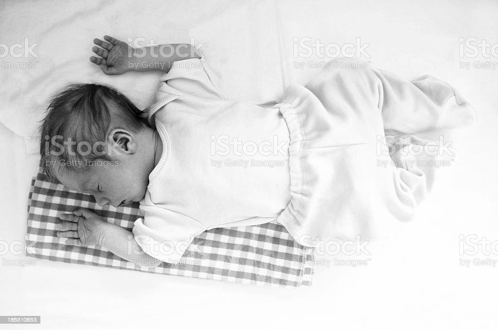 Sleeping Baby Portrait royalty-free stock photo