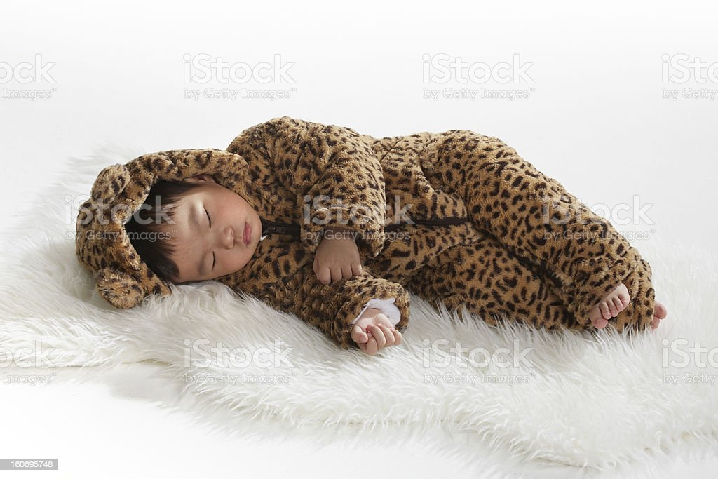 Sleeping Baby Stage Costume royalty-free stock photo