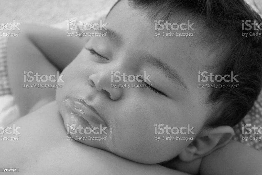 슬리핑 bambino royalty-free 스톡 사진