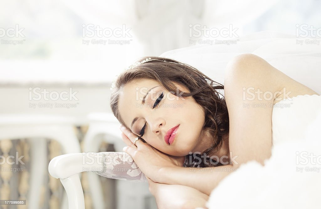 Sleeping Beauty stock photo