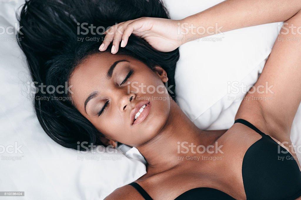 Sleeping beauty. stock photo