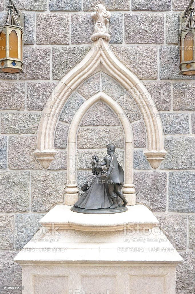 Sleeping Beauty Stone Mini Sculpture stock photo